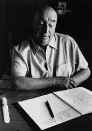 Picture of Pablo Neruda, writer and poet; twentieth century Chilean Literature and poetry