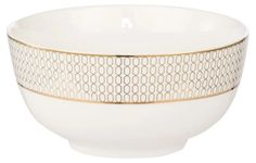 Dress your dinner table up like it's a black tie event with this stunning gold trim bowl from Hotel Collection. The white and gold combination makes for a sophisticated look and feel. Fine Bone China Not suitable for microwave and dishwasher use. Dinner Table, Dinner Plates, Side Plates, Cereal Bowls, Cup And Saucer Set, Bone China, Tea Pots, Tableware, Gold