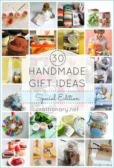 handmade gift ideas for Mothers day and birthdays. Make it special with spa and beauty kits. Recipes in a jar. Baking, chef, crafts and garden baskets, kits