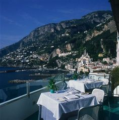 View from dining room at Hotel Luna Convento, Amalfi Coast