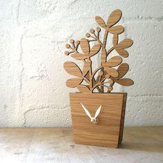 Houseplant Desktop Clock - Medium. $68.00, via Etsy.