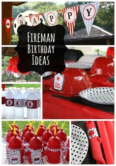 boy's fireman birthday party www.spaceshipsandlaserbeams.com