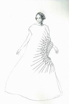 yuki hagino 1007 Origami Fashion Dress sketch fashion sketchbook fashion how to make Origami Fashion, Paper Fashion, Fashion Art, Fashion Graphic, Origami Owl, Moda Origami, Fashion Illustration Face, Illustration Mode, Fashion Illustrations