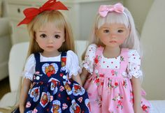 https://flic.kr/p/ffzzcz   Mercy and Chloe   I love these girls! Little darlings Dolly Couture by Pumpernickel doll clothing:)..thank you Tauni<3!