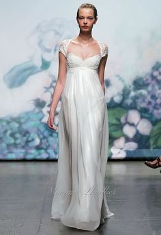 Grecian Wedding Dresses For A Goddess-Inspired Look Pregnant Wedding Dress, Cheap Wedding Dress, Wedding Gowns, Maternity Wedding, Empire Style Wedding Dresses, Monique Lhuillier, Bridal Outfits, Bridal Dresses, Grecian Wedding