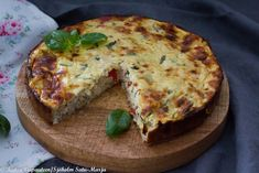 VHH kana-vuohenjuustopiirakka- kuitupitoinen ja kevyt - Kutsu vapauteen Lchf, Quiche, Low Carb, Baking, Breakfast, Sweet, Food, Drinks, Lean Recipes