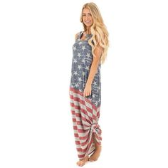 7bb7cbb6102 Independence Day American Flag Print Maxi Dress - Avenue of Angels
