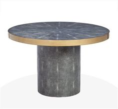 Image of Winslet Spool Table Charcoal Shagreen design by Interlude Home Transitional Lighting, Transitional Bathroom, Transitional Living Rooms, Transitional House, Bathroom Glass Wall, Spool Tables, Interior Stairs, Burke Decor, Dining Room Table