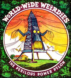 "thebristolboard:  Gallery of ""World Wide Weirdies"" by Ken Reid from Whoopie!, a British children's comic published by IPC from 1974-1985. Replacing the ""Creepy Creations"" features from Shiver and Shake (which merged with Whoopie! in 1974), many of these back cover illustrations were inspired by readers who sent in spooky names for famous landmarks for Reid to illustrate.  You can see lots more here."