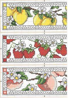 Schema punto croce Frutta Mista 1