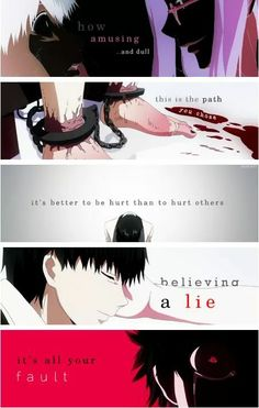 This... Oh gosh... This... When Kaneki was broken in a way that he could never truly be put back to gather. When we lost or sweet innocent l boy with a crush on a beautiful women.