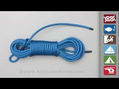 Coiling Rope: How to Coil Rope So It Doesn't GEt Tangled by animatedknots Coining_Rope #animatedknots