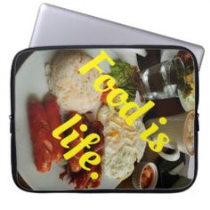Choose from a variety of Food laptop sleeves or make your own! Shop now for custom laptop sleeves & more! Cold Drinks, Beverages, Computer Sleeve, Lunch Box, Tasty, Hot, Life, Cool Drinks, Bento Box