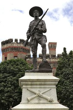 Pinner sez: The Boer War memorial in front of the Brantford Armouries. I love stoicism and fearless determination this statue captures. War Memorials, Manly Man, War Dogs, Historical Pictures, African History, Human Nature, Old Pictures, South Africa, Transportation