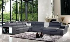 Grey leather sofa color to go with royal blue and dark grey accent chairs (yellow and silver)