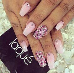 "Pink Nail Design Using Opi ""Its a Girl"""