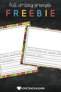 Are your students struggling with creative writing? Here is a fun freebie to get those descriptive words flowing. Something about autumn helps us all become more aware of our senses. These 9 writing prompts will help your students creatively talk about the sights and smells of the season.