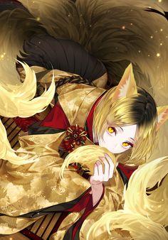 kenma as a fox Anime Neko, Manga Anime, Anime Art, Kenma Kozume, Kuroken, Iwaoi, Kageyama, Haikyuu Fanart, Haikyuu Anime