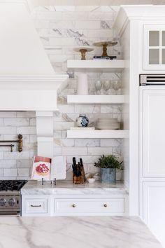 white-marble-kitchen-brass-fixtures - 18