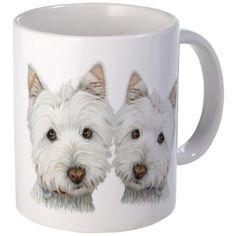 Two Cute West Highland White Dogs Mug on CafePress.com