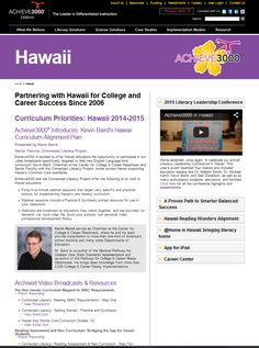 Webinars, documents, pictures, ppts, contests and more for Hawaii Achieve3000 users