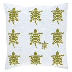 Turtles Pillow in Green