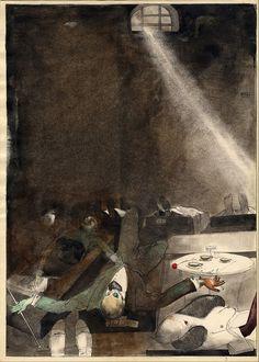 Kārlis Padegs, Five O'clock Tea in the Morgue, 1935.
