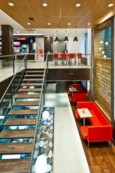 KFC Mongolia // Down to the basement. Interior design for the international first fast food restaurant in Mongolia, for KFC.