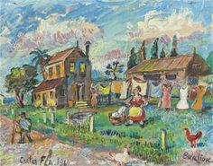 A big washing day - David Burliuk, 1964