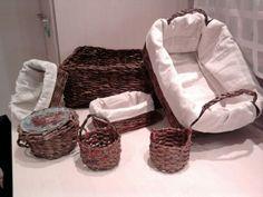 Košíky vyrobené z novin
