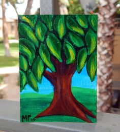 ACEO Tree Painting