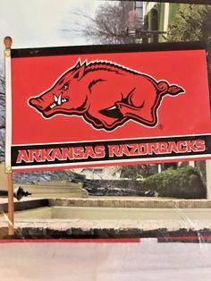 NCAA Arkansas Razorbacks 3-by-5 Foot Flag With Grommets #BSI