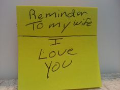 I love my wife: Reminder