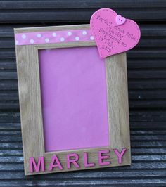 Personalised Baptism photo frame with name and by scratchycat, £9.50 #HEPTEAM