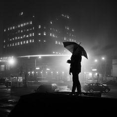Mysterious Silhouettes Along Detroit's Dark City Streets - My Modern Metropolis Cityscape Photography, Photography Logo Design, Dark Photography, Street Photography, Portrait Photography, Night Photography, Bokeh, Silhouettes, Black White Photos
