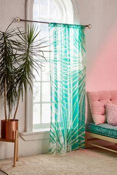 Batik Palm Print Window Curtain | Urban Outfitters