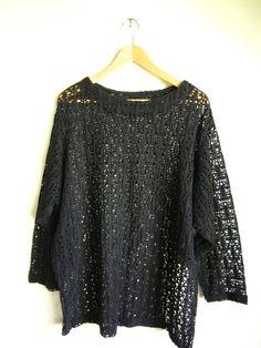 vintage 90s ANNEX WEAR black cutout//mesh by acupfullofsunshine, $32.00