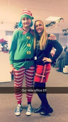 With my always-laughing and lovely friend Leanne. She wanted a photo with me as The Office Elf because she thought I'd make a good elf.......