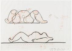 HON - skiss by Per-Olof Ultvedt, Jean Tinguely, Niki de Saint Phalle
