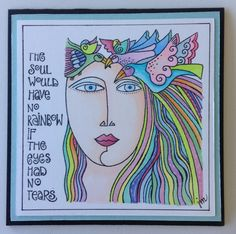 New Laurel Burch stamp from Stampendous