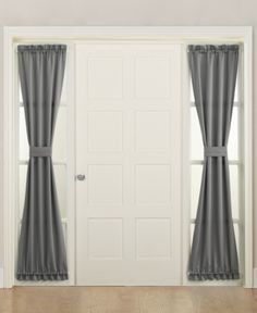 Sun Zero Grant Room Darkening x Sidelight Curtain Panel - Steel Sidelight Curtains, Door Curtains, Grommet Curtains, Blackout Curtains, Sidelight Windows, Classic Curtains, Floral Room, Curtain Lights, Thermal Curtains