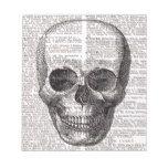 Vintage Skull Print on Dictionary Page Notepad #halloween #happyhalloween #halloweenparty #halloweenmakeup #halloweencostume