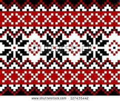 Find Nordic pattern with snowflakes. Mosaic in Scandinavian, Norwegian style Stock Vectors and millions of other royalty-free stock photos, illustrations, and vectors in the Shutterstock collection. Thousands of new, high-quality images added every day. Fair Isle Knitting Patterns, Fair Isle Pattern, Knitting Charts, Knitting Designs, Knitting Stitches, Knitting Projects, Nordic Pattern, Cross Stitch Embroidery, Cross Stitch Patterns