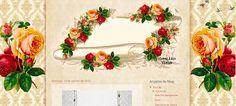 Violeta lilás Vintage: Template Pergaminho de Rosas