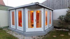 Gartenhaus Grau Weiß: Moderner Gartentrend Mit Stil