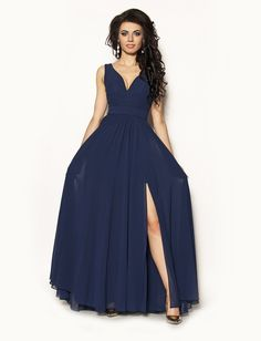 0fbedfb881 SukienkiMM.pl  Długa elegancka sukienka Model PW-2440