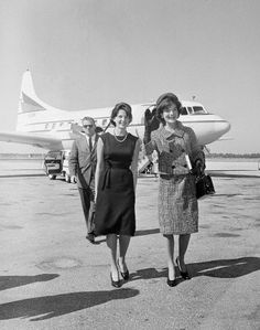 Jackie Kennedy at West Palm Beach Airport, 1961