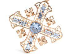 French Art Deco Cross Fleury Pendant