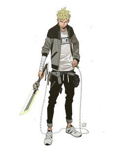 Hunter, YUNGUN Y on ArtStation at https://www.artstation.com/artwork/dqlBK