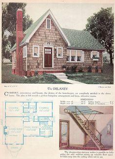 1928 Home Builders Catalog - The Delaney, via Flickr.